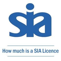 how much is a sia licence