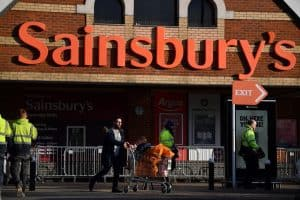 Sainsbury's and Morrisons enforce mask-wearing in their supermarkets by posting trained security guards at shop entrances