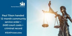 Read more about the article SIA News – Buxton man handed 12-month community service order for licence infringements