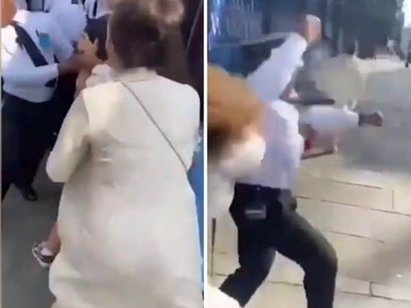 Woman 'spits on guard' after being thrown out of Harrods 'for not wearing mask', Full Video
