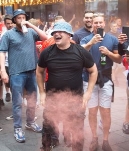 Read more about the article Man drank 20 ciders, snorted coke, put flare up backside then stormed Wembley